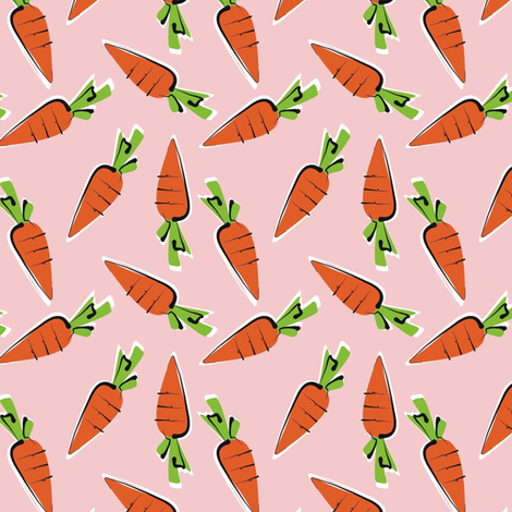 baby carrots - healthy option fabric by moirarae on Spoonflower - custom fabric