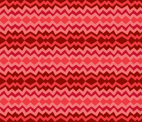 lazy zigzag in ombre pink & red fabric by danielle909 on Spoonflower - custom fabric