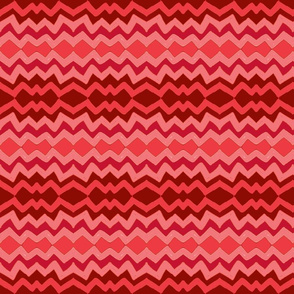 lazy zigzag in ombre pink & red