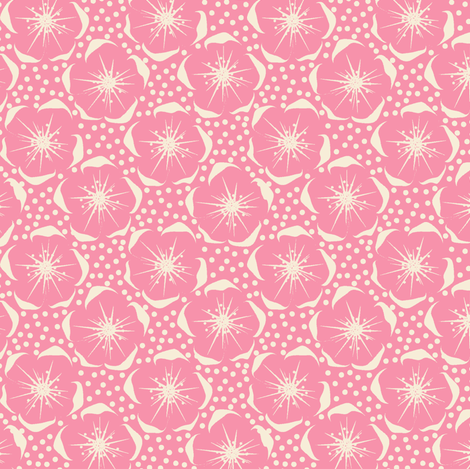 Blossom - PINK fabric by moirarae on Spoonflower - custom fabric