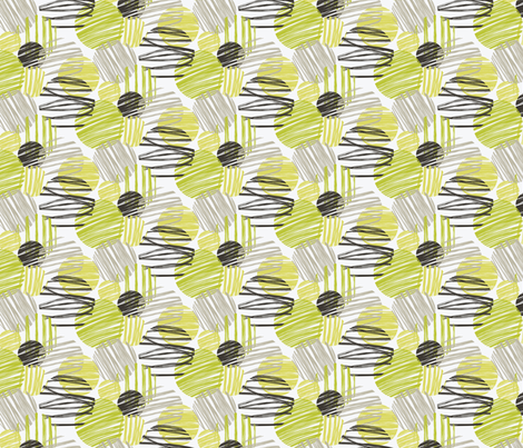 Sketchy circles fabric by accidentalvix on Spoonflower - custom fabric