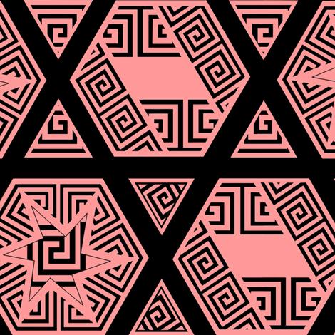 _Greek_Fret_ff9999 fabric by house_of_heasman on Spoonflower - custom fabric