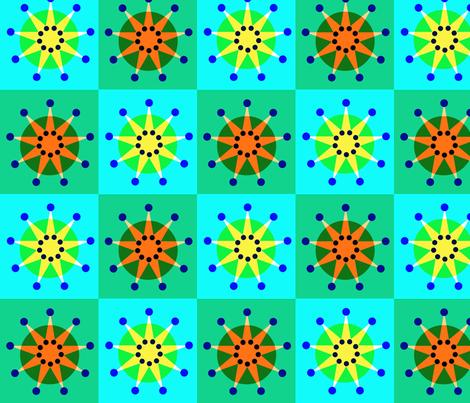 Sunburst Starburst Patchwork fabric by boris_thumbkin on Spoonflower - custom fabric