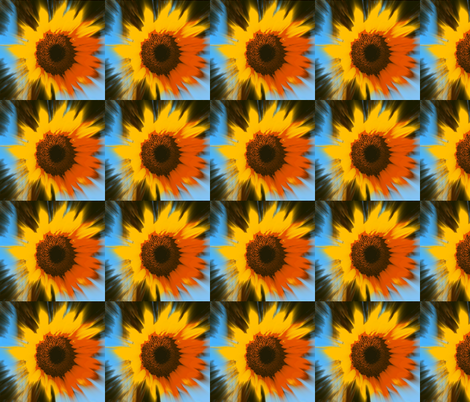 SunBurst Sunflower fabric by cathymcg on Spoonflower - custom fabric