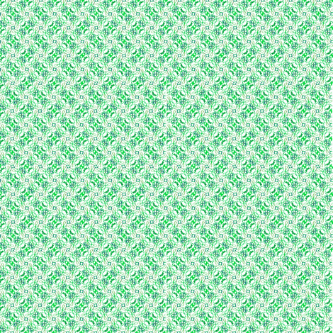 Floral ikat scribbles -- in summery greens fabric by bargello_stripes on Spoonflower - custom fabric