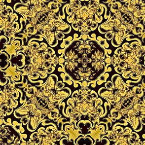 Claw of Foo Dog black and gold