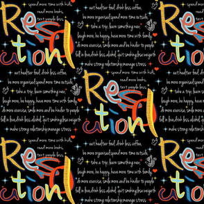 MY RESOLUTION BOARD/ HAPPY NEW YEAR EVERYONE!!