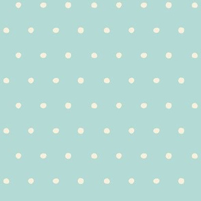 dots blue cream