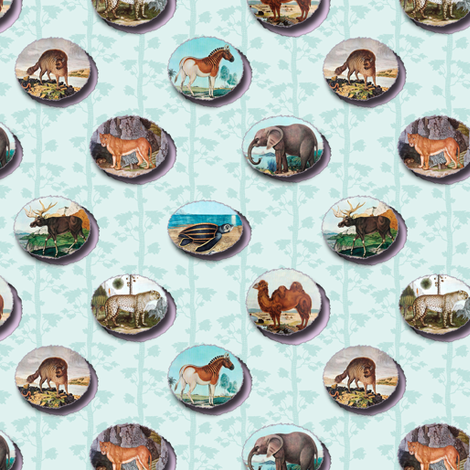 the public domain zoo fabric by keweenawchris on Spoonflower - custom fabric