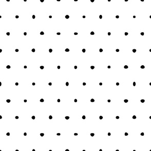organic black and white dots