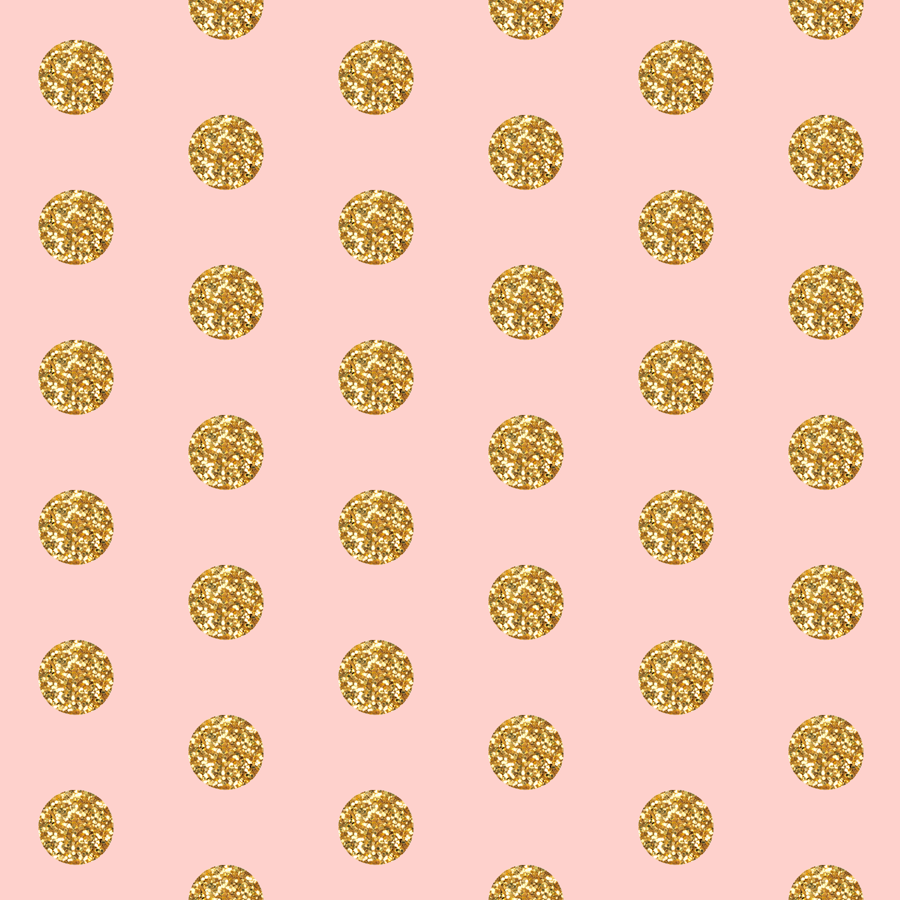 Glitter Dots Beaucoup On Pink Fabric
