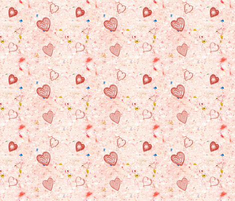 Hearts a Flutter fabric by cathymcg on Spoonflower - custom fabric