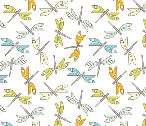 Dragonfly Swarm fabric by cindylindgren on Spoonflower - custom fabric