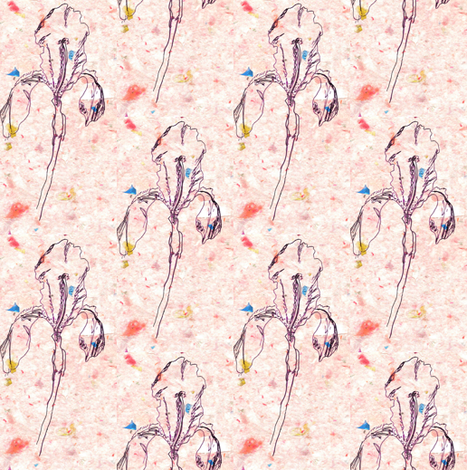 iris-purple-confetti fabric by cathymcg on Spoonflower - custom fabric