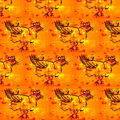 chicken splotch orange fabric by cathymcg on Spoonflower - custom fabric