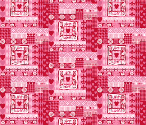 valentine spring floral cheater quilt fabric by lisakling on Spoonflower - custom fabric