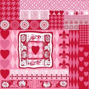 valentine spring floral cheater quilt