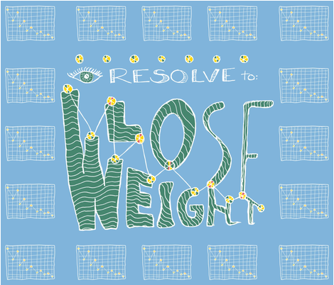 I resolve to Lose Weight fabric by tashasunny on Spoonflower - custom fabric