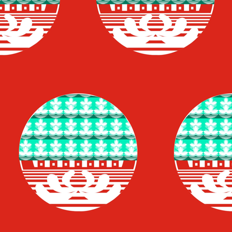 Lotus Circles fabric by boris_thumbkin on Spoonflower - custom fabric