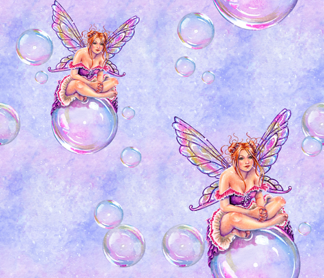 Bubbles Fairy by Selina Fenech fabric by selinafenech on Spoonflower - custom fabric
