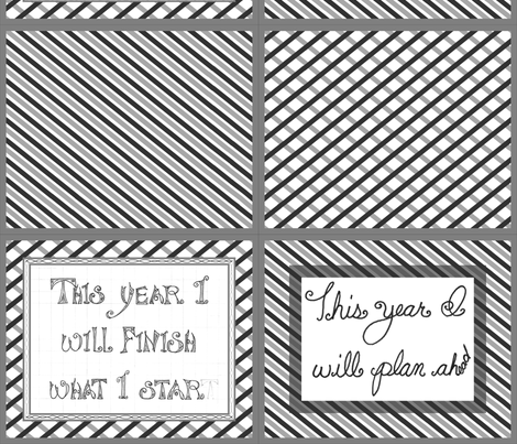 resolutions fail pillow kit fabric by victorialasher on Spoonflower - custom fabric