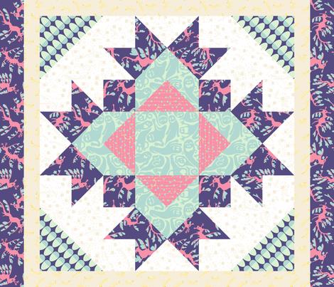 Spring Thistle fabric by mongiesama on Spoonflower - custom fabric