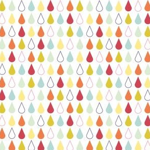 Rain drops - spring palette multi red