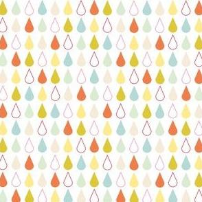 Rain drops - spring palette multi blue