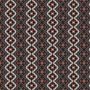Small Harlequin in red, black and white.