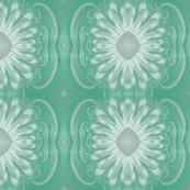 Feathery Flower - Cyan