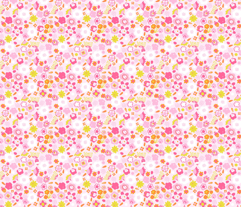 delicate flowers fabric by mondebettina on Spoonflower - custom fabric