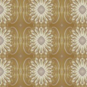 Feathery Flower - Ecru