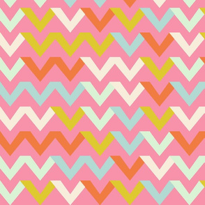chevron_multico_fond_rose_L