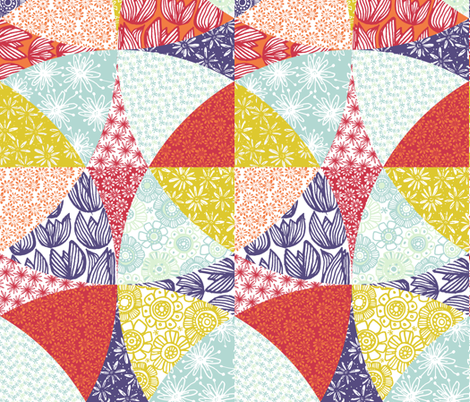 Floral Patchwork fabric by zapi on Spoonflower - custom fabric