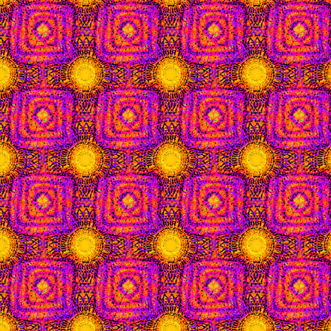 MANDALA PSYCHEDELIC SUN fabric by paysmage on Spoonflower - custom fabric