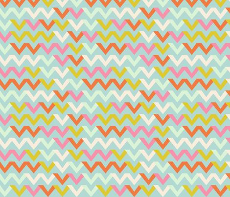 chevron_multico_fond_aqua fabric by nadja_petremand on Spoonflower - custom fabric