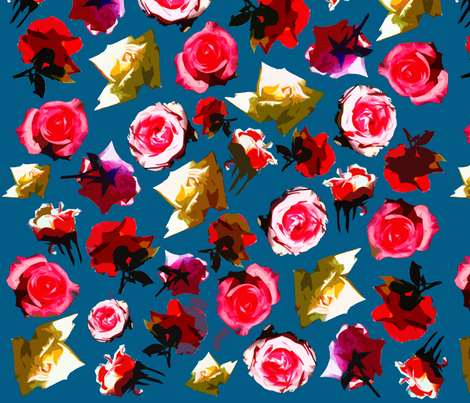 Floral Pattern fabric by sharksvspenguins on Spoonflower - custom fabric
