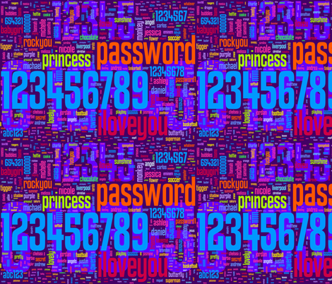 bad passwords - small fabric by lorrietweet on Spoonflower - custom fabric