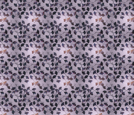 Gingko Leaves Galaxy Print fabric by jamiepowell on Spoonflower - custom fabric
