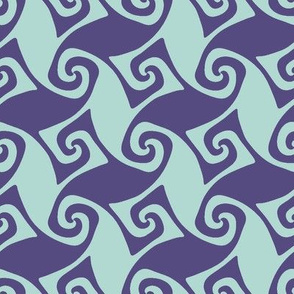 Trellis in purple and pale blue