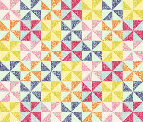 Spring patchwork fabric by stitchandyarn on Spoonflower - custom fabric