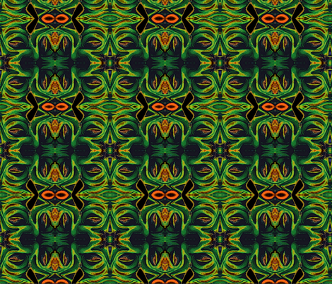 Monster Mouth  fabric by whimzwhirled on Spoonflower - custom fabric