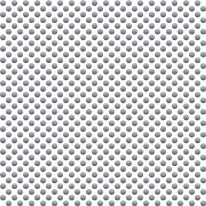 metallic polka dot silver