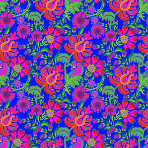 Bohemian Floral Paisley in Cobalt