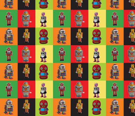 robot? check! fabric by bippidiiboppidii on Spoonflower - custom fabric