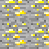 Minecraft Gold Ore - Large by elsielevelsup, Spoonflower ...