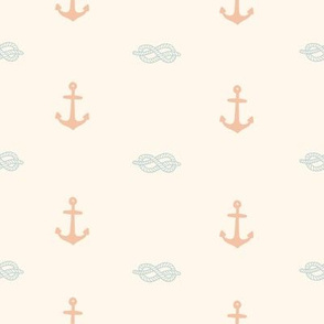 Pastel anchor and knot
