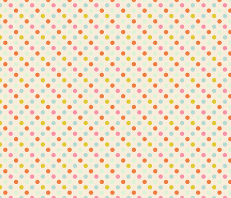 pois_fond_beige_S fabric by nadja_petremand on Spoonflower - custom fabric