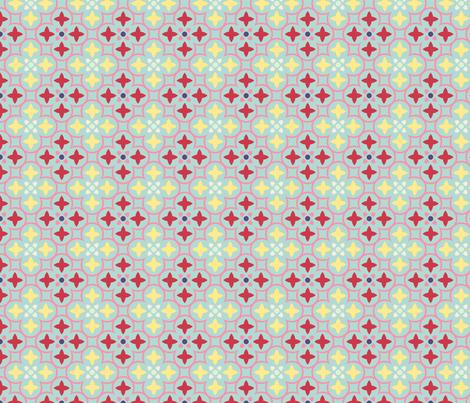mosaique_fond_aqua_M fabric by nadja_petremand on Spoonflower - custom fabric