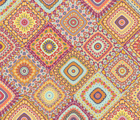 Granny's Millefiori Cheater Quilt fabric by groovity on Spoonflower - custom fabric